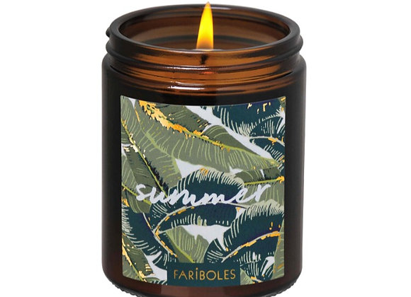 Bougie Summer , cire de soja naturelle parfum tiaré