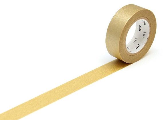 Masking tape doré uni - Blanc Bohème