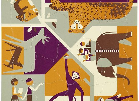 Puzzle multi joueurs zoo - Blanc Bohème