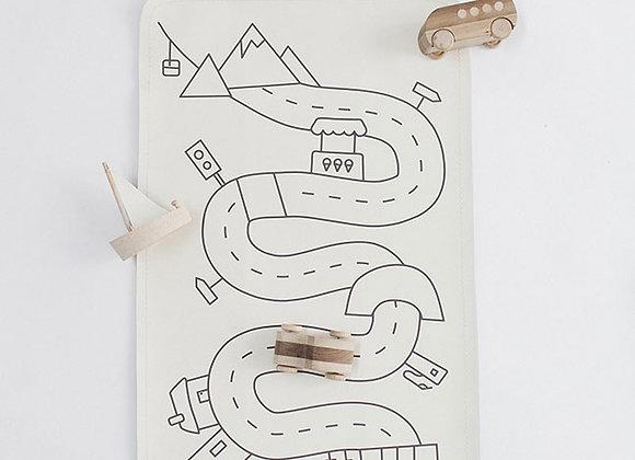 Mini tapis de jeu lavable, GATHRE - Blanc Bohème