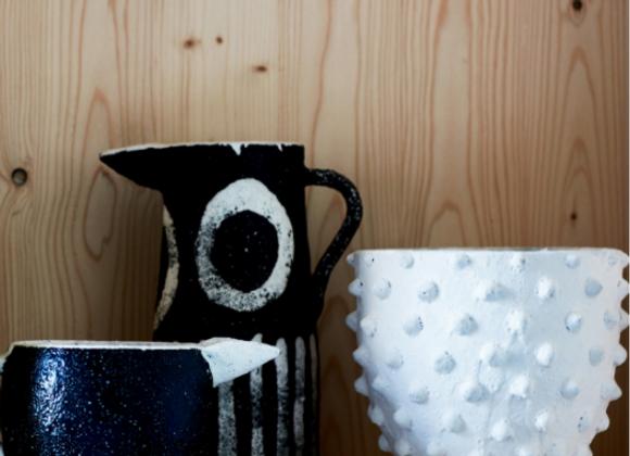 Vase Blanc Mat design - Blanc Bohème