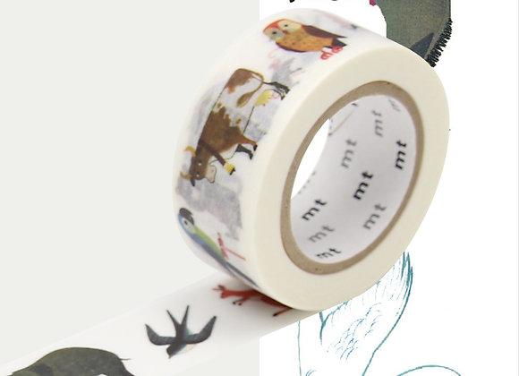 Masking tape Alan Gree Animaux - Blanc Bohème
