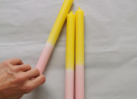 Trio de Bougies colorées - Blanc Bohème