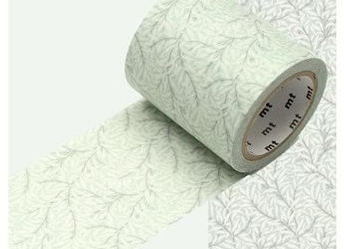 Masking tape fleuri vert pâle
