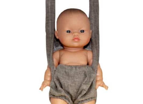 Porte bébé pour poupée Minikane- porte poupée en double gaze de coton