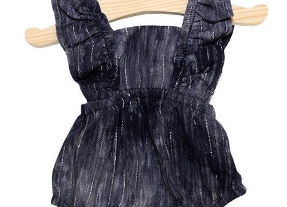Vêtements pour poupée Miikane: barboteuse bleu