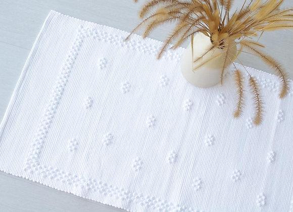 Tapis en Coton Blanc 100 x 50 cm