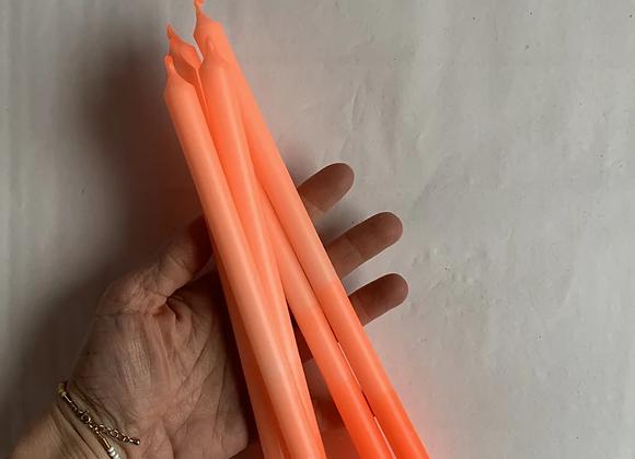 5  Bougies Fines Tie & Dye Jaune, Orange ou Rose