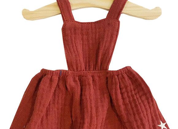 Robe terracota minikane pour poupée