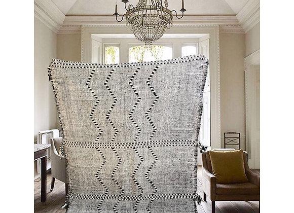 Tapis kilim noir et blanc, grande qualité