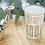 Verre à thé marocain blanc et or