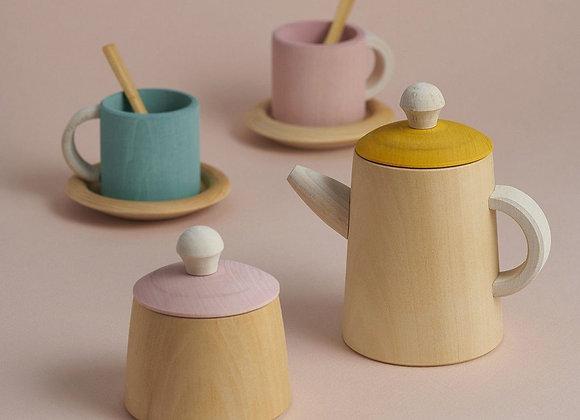 Raduga Grez: wood tea set - Blanc Bohème