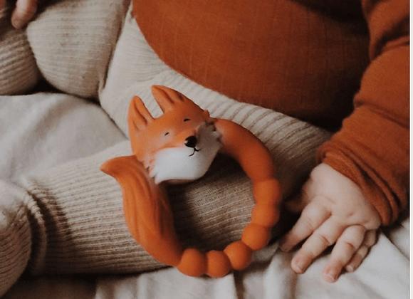 Petit jouet renard - pour les dents des bébés - jouet premier âge