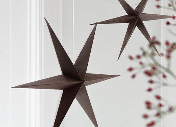 Etoile de Noël en papier marron