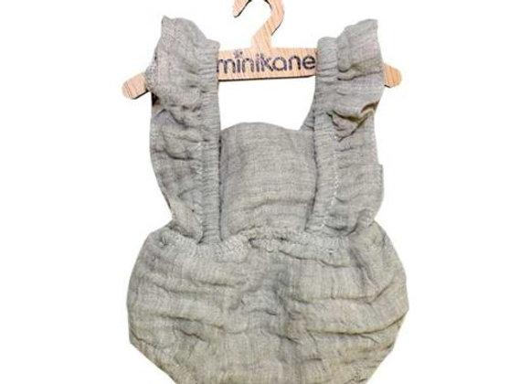 Barboteuse gris clair pour poupée paola reina, Minikane