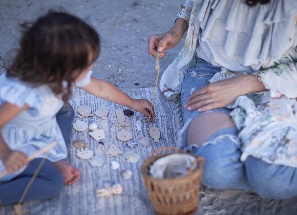 Jeu en bois: pêche à la ligne - jeu d'adresse - Babai toys - Blanc Bohème