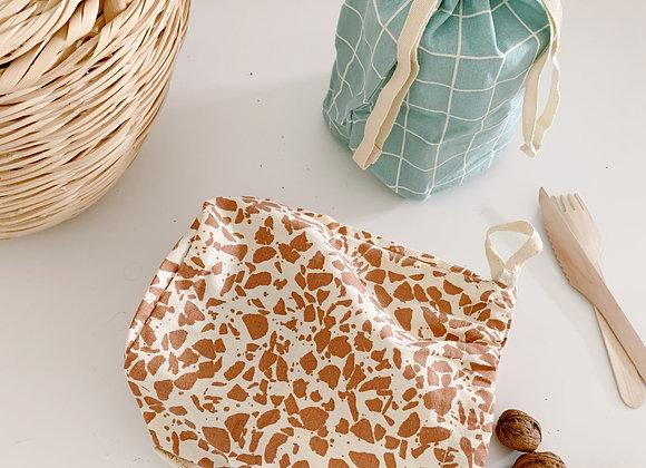 Sac réutilisable terracotta - Blanc Bohème
