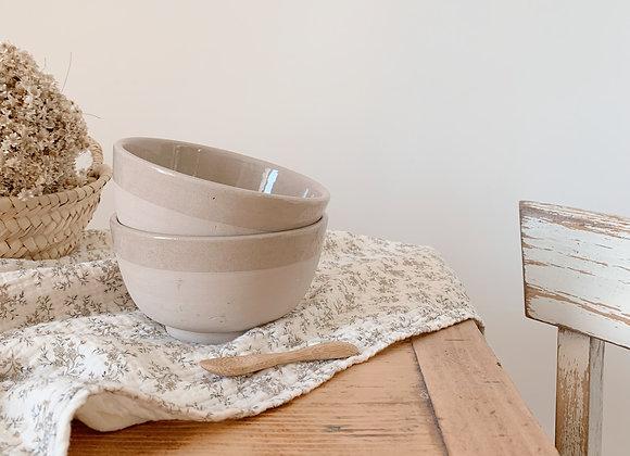 Bol en céramique naturel - Artisanat marocain - Blanc Bohème