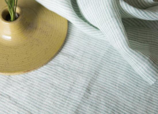 Nappe fines rayures vertes - Gabrielle Paris chez Blanc Bohème