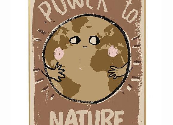 "Affiche "" Power to nature "" - Studio Loco - Blanc Bohème"