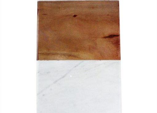 Plateau en marbre et bois