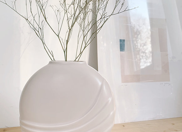 Vase rose pâle - Blanc Bohème