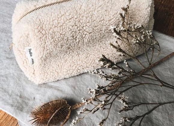 Trousse peluche beige - Blanc Bohème