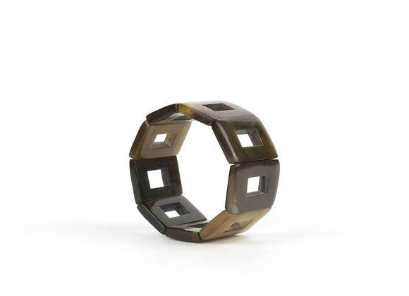 Bracelet esprit seventies - Blanc Bohème