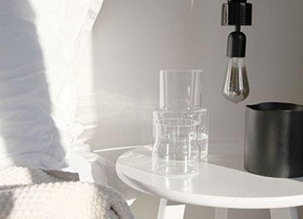 Lampe Céramique Noire - Blanc Bohème