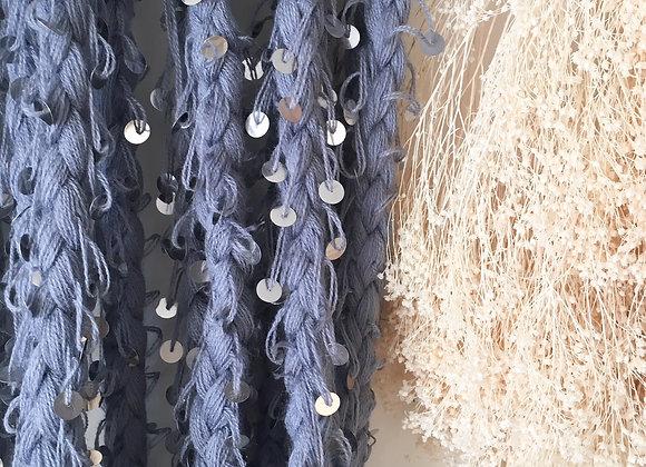 Tresse guirlande bleu-gris