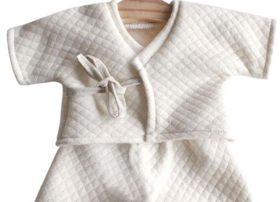Kimono blanc cassé Minikane pour poupée Paola Reina