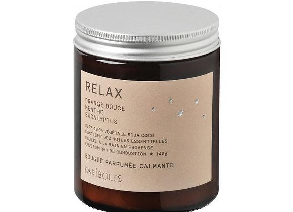 Bougie Relax à la cire naturelle de soja, Orange et menthe - Blanc Bohème,