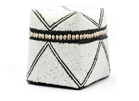 Boîte de décoration Balinaise en perles et coquillages