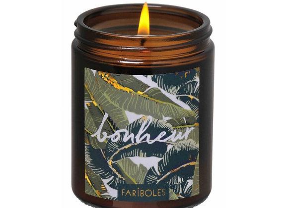 Bougie Fariboles parfum tiaré, Bougie Bonheur