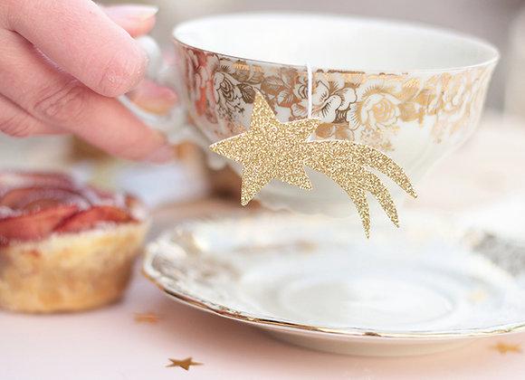 Sachets de thé étoiles dorées
