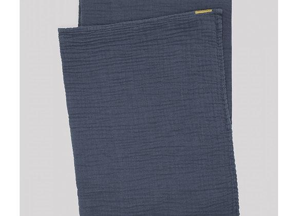 Plaid en double gaze de coton Bleu  - 2 Tailles