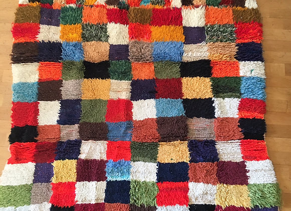 Tapis coloré vintage en laine