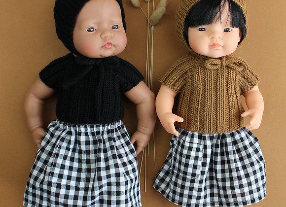 Ensemble tricot pour poupée Minikane