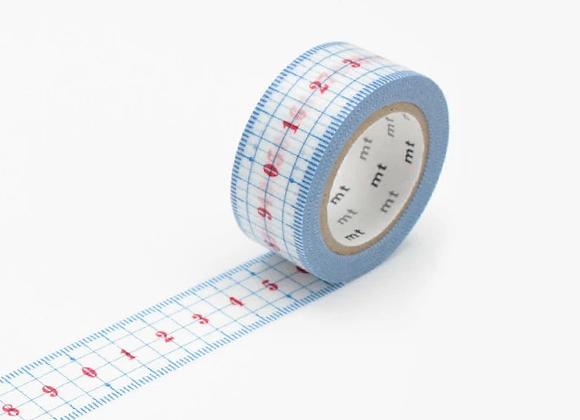 Masking tape Règle vintage - écolier - Blanc Bohème