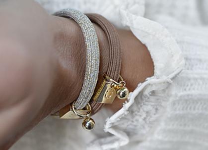 Bracelet élastique élégant marron