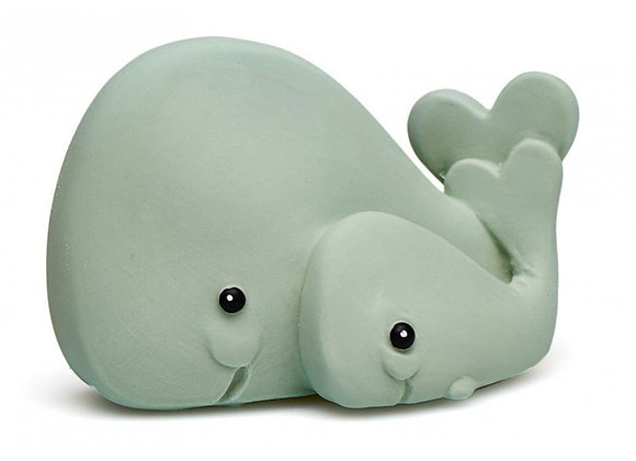 Maman baleine et bébé -  caoutchouc naturel - Blanc Bohème