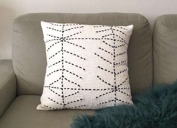 Housse de Coussin  Coton Blanc 50 x 50 cm