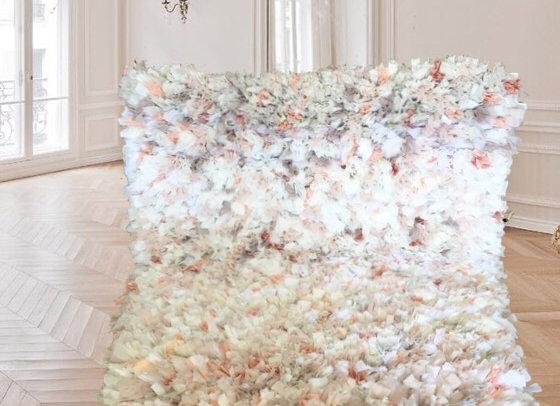 Tapis girly en tissus - Blanc Bohème