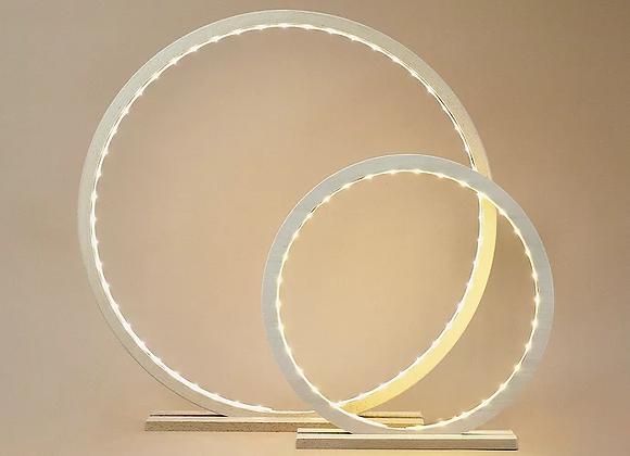Lampe cercle en bois naturel