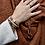 Porte-clés cordon noisette - Blanc Bohème