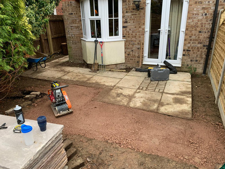 paving - before