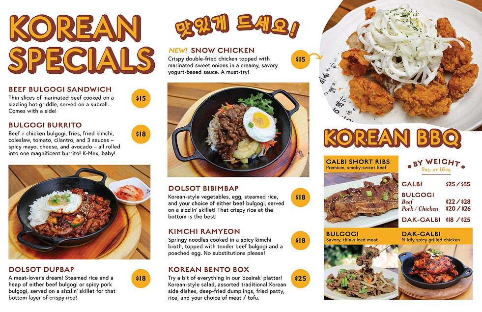 Everyday Lunch Korean Specials