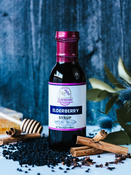 All Natural Elderberry Syrup, 14 oz
