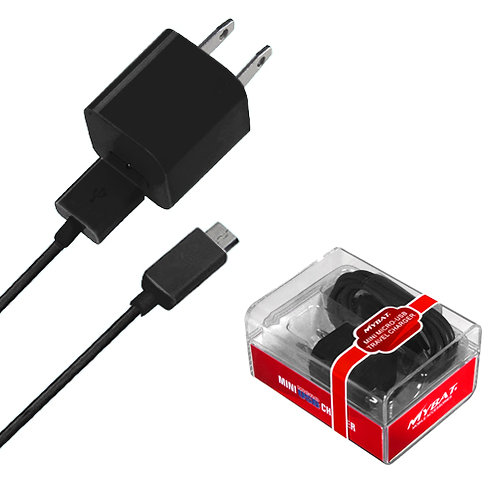 MYBAT MICRO USB Black Travel Charger with USB Port (2-in-1)