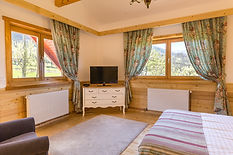ensuite bedroom Carpathian Log Home